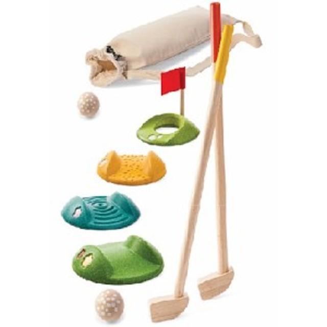 913407c2f0cbe3 PLAN TOYS プラントイ ミニゴルフ フルセット 3歳 4歳 5歳 木のおもちゃ ...