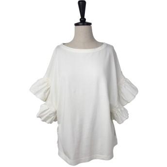 Tシャツ - AFFRANCHIR コットン天竺 袖フリル プルオーバー Tシャツ