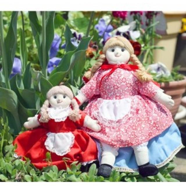 布おもちゃ 布人形 変身人形フリップオーバードール 赤ずきん大・小サイズセット 人形劇【世界の童話】幼児教育