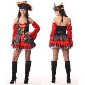 海賊 パイレーツ コスチューム  ジャック・スパロウ風 ハロウィン コスプレ衣装 パーティー 結婚式 二次会 余興 レディース 女性用