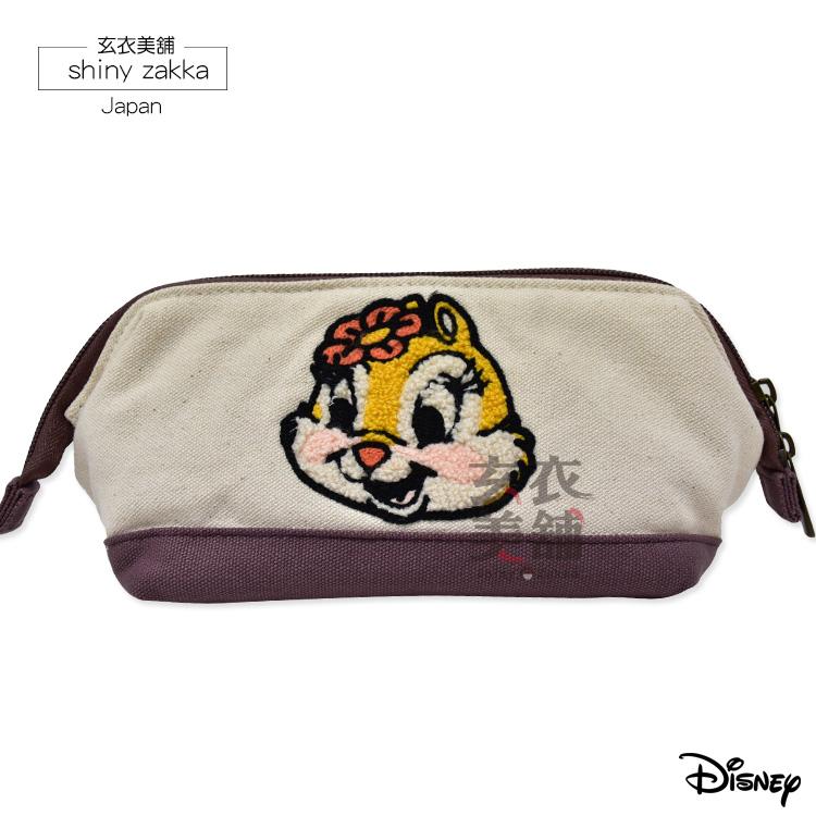 筆袋-迪士尼Disney 克莉絲鋼圈硬邊收納袋-玄衣美舖