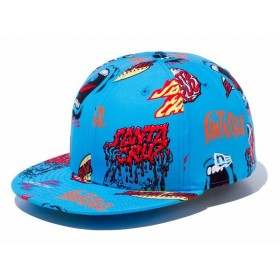 ニューエラ NEW ERA 59FIFTY サンタクルーズ マルチロゴ オールオーバー カジュアル 帽子 キャップ Santa Cruz【191013】
