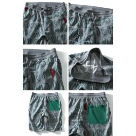 ショートパンツ - 大きいサイズの店ビッグエムワン 【大きいサイズ】【メンズ】DANIEL DODD スイカ柄プリントスウェットショートパンツ azsp-1436