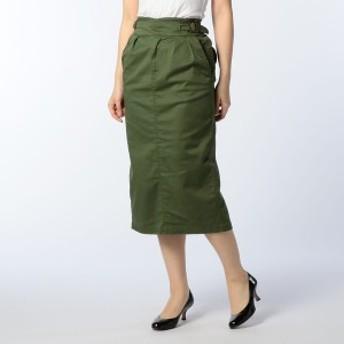 NOLLEY'S ツイルストレッチグルカタイトスカート