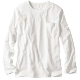 綿100%ポケット付長袖Tシャツ Tシャツ・カットソー