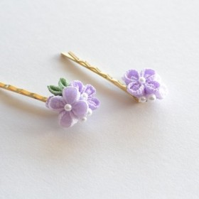 tumami*紫陽花 ヘアピン(1本)