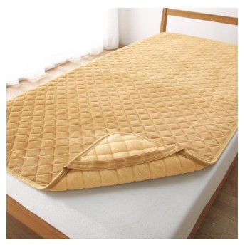 マイクロファイバー×綿100%タオル地リバーシブル敷パッド 敷きパッド・ベッドパッド