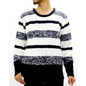 ニット・セーター - MARUKAWA 大きいサイズ メンズ ボーダー ニット【キングサイズ セーター シンプル きれいめ 清潔感】