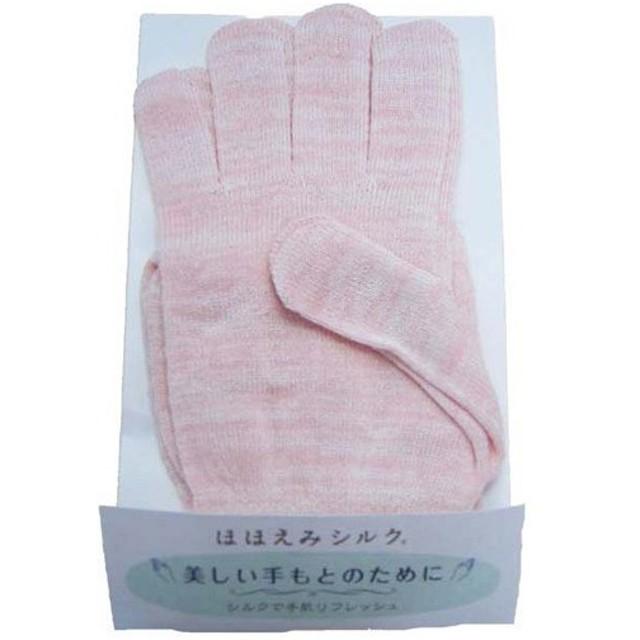 ラッシュ ほほえみシルク 絹手袋P ピンク フリーサイズ ( 1双 )/ ラッシュ
