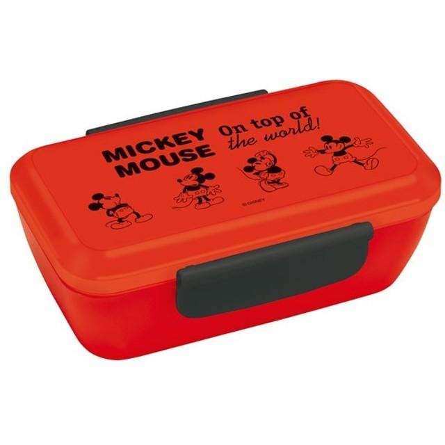 ミッキーマウス 弁当箱 1段 /  スタイリッシュランチボックス 530ml Mickey Mouse Cheerful チアフル