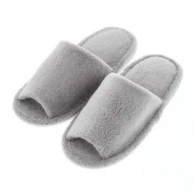 HOME COORDY 洗えるパイル外縫いスリッパ グレー フリーサイズ ホームコーディ フリー