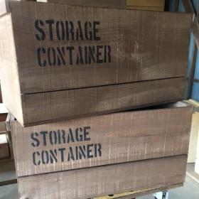 在庫なしペイント付き★ウォルナット収納棚二箱セット