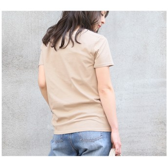Tシャツ - CITRINE Chakra クルーネックコットンTシャツ◆レディース ファッション 春物 春服 Tシャツ シャツ カットソー トップス 無地 ボーダービッグシルエット 綿100% 消臭 抗菌 クルーネック