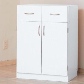 ユニットキッチンカウンター 60幅キャビネット ホワイト 幅60x奥行47x高さ83cm キッチン収納