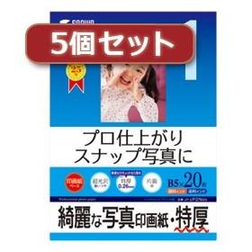 5個セット インクジェット写真印画紙 特厚 JP-EP2NB5X5 JP-EP2NB5X5 パソコン 代引不可