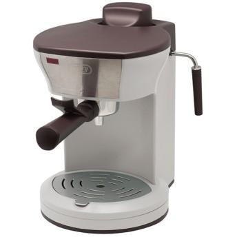 【Toffy トフィー】ホームエスプレッソマシン アッシュホワイト コーヒーメーカー