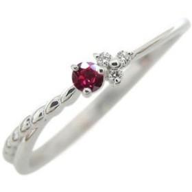 ルビー シルバー リング 華奢 シルバー アクセサリー 7月誕生石 指輪