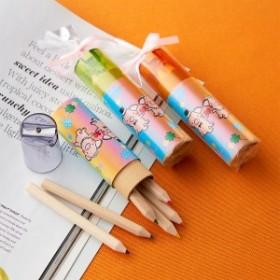 プチギフト おしゃれ 結婚式 安い ありがとう 雑貨 文房具 ぶたさんの虹色えんぴつ 鉛筆