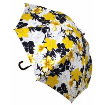 日母の日 傘レディースおしゃれ 晴雨兼用 日本製 UVcare ハイビスカス