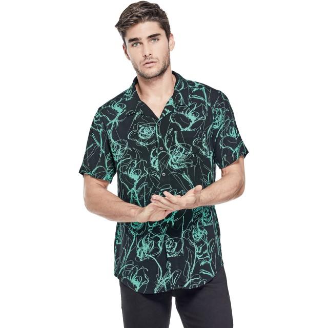 シャツ - GUESS【MEN】 [GUESS] FLORAL SCRIBBLE PRINTED SHIRT