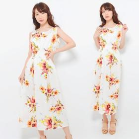 ワンピース - CLOTHY フラワープリント ノースリーブ マキシ丈 ワンピース ★3type★