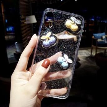 iphone6s Plus/iPhone6 Plus/iPhone7 Plus/iPhone7/iPhone8 Plus/iPhone8/iPhoneXケース透明キラキラケース【m288】