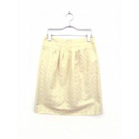【中古】ユナイテッドアローズ UNITED ARROWS スカート ミニ 台形 総柄 36 ゴールド /tm レディース