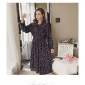 花柄 シフォン ワンピース ネイビー ベージュ ワンピース ドレス パーティ リゾート 二次会 きれいめ 20代 30代40代 大きい