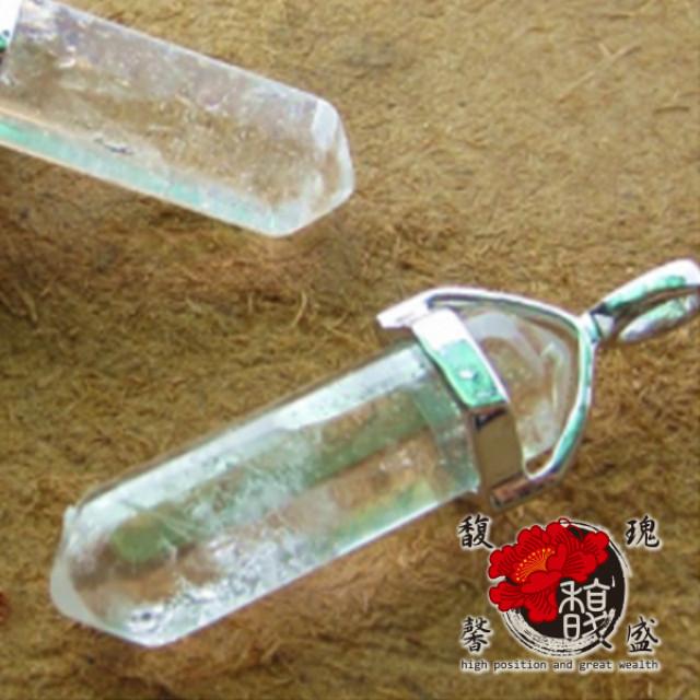 水晶【貞潔六角白水晶項鍊】吊墬 天然 透明 成色 手作 礦物 水晶柱 開運 含開光 馥瑰馨盛NS0517