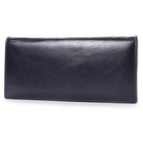 オティアス Otias ベジタブルタンニンなめしバッファローレザー 二つ折り長財布/かぶせウォレット (ネイビー)