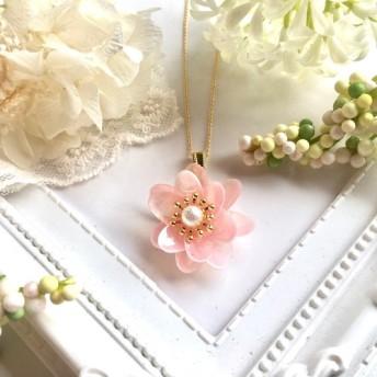 幸せ桜貝のネックレス