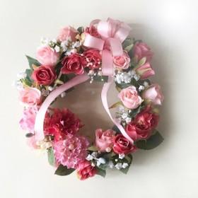 カーネーションと薔薇のアレンジメントリース fwm10