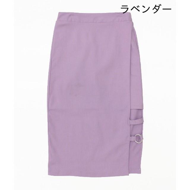 ミニスカート - ANAP リングベルトデザインスカート
