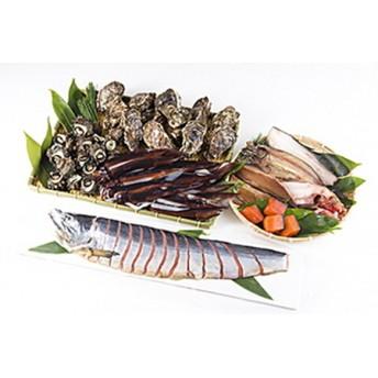 旬の地魚と手造り干物と塩引鮭半身のセット