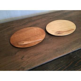KK‐02 栗とくるみのオーバルプレート皿と桜のフォーク2本セット