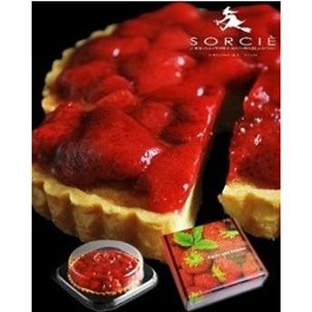 ソルシエ スイーツ デコ ケーキ フルーツ 洋菓子 苺のジューシーなコンポートタルト|73588|