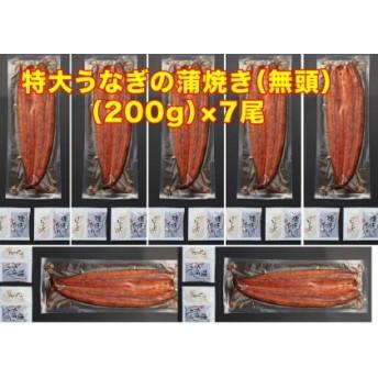 鹿児島県産特大うなぎの蒲焼き(無頭)200g×7尾