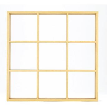 オープンシェルフナチュラル3×3 ホームコーディ 幅127.9×奥行29.6×高さ126.3cm シェルフ・ディスプレイラック