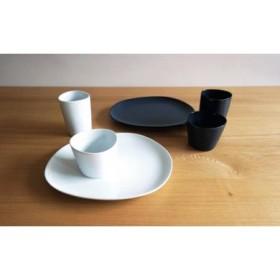 【2人分の食器セット】 ホワイト&ネイビー/ペトラとトロワ6ピースセット【白山陶器】