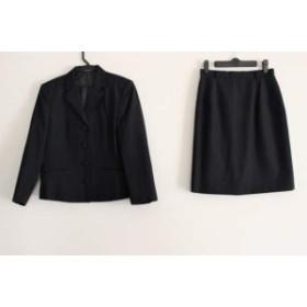 ニューヨーカー NEW YORKER スカートスーツ サイズ9AR S レディース ダークネイビー【中古】