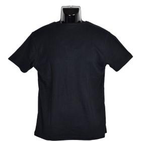 Tシャツ - NEVEREND AMORTE ブライト 針抜きストライプ 5釦 キーヘンリーネック 半袖Tシャツ 8403-918