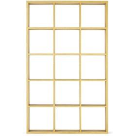 オープンシェルフナチュラル3×5 ホームコーディ 幅127.9×奥行29.6×高さ208cm シェルフ・ディスプレイラック