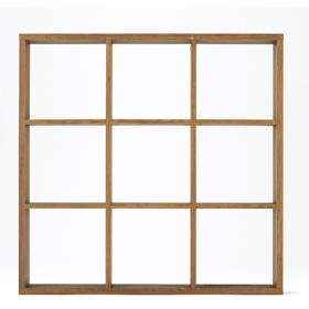 HOME COORDY オープンシェルフブラウン3×3 ホームコーディ 幅127.9×奥行29.6×高さ126.3cm シェルフ・ディスプレイラック