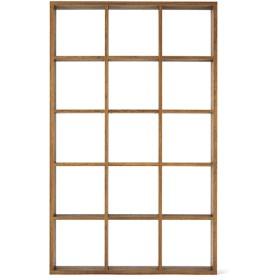 HOME COORDY オープンシェルフブラウン3×5 ホームコーディ 幅127.9×奥行29.6×高さ208cm シェルフ・ディスプレイラック
