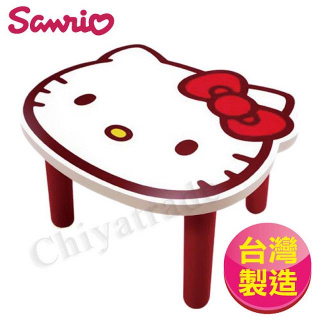 【Hello Kitty】台灣製大頭造型矮凳椅子 和室椅 兒童椅(SANRIO正版授權)-白