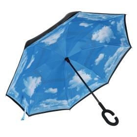 WIBERTA 逆さ傘 逆さま傘 長傘 日傘 車用傘 晴雨兼用 8本骨 60cm 収納ケース付き