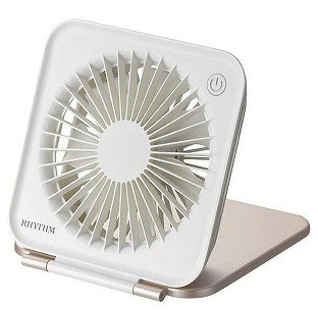 リズム時計工業 USB扇風機 (7枚羽根) 9ZF022RH13 ピンクゴールド