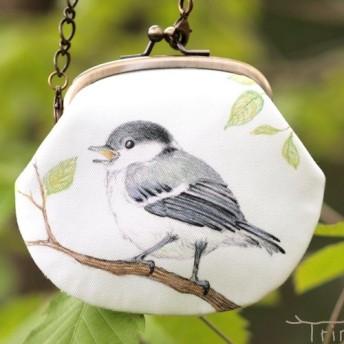 シジュウカラの幼鳥のがまぐち(八ヶ岳の小鳥たち)