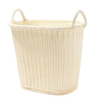 【HOME COORDY】編み込みランドリーバスケットL 洗濯用品