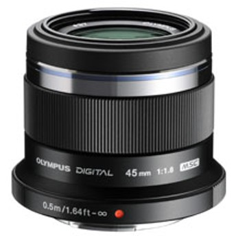 M.ZUIKO DIGITAL 45mm F1.8 ブラック [マイクロフォーサーズ] 中望遠レンズ